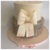 Sprinkle Cake with Bow