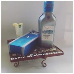 Blue Goose Vodka Cake