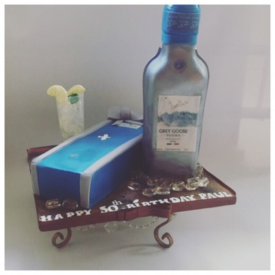 Blue Goose Vodka Cake