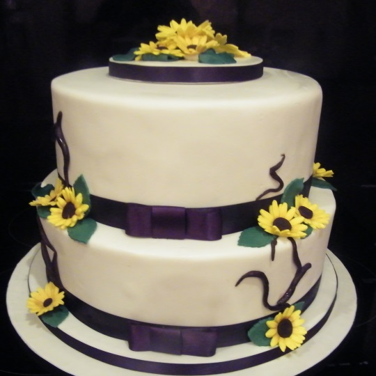 Wedding Cake Sunflowers