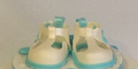 Baby Booties edible for Christening