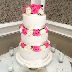A Tiered Wedding Cake